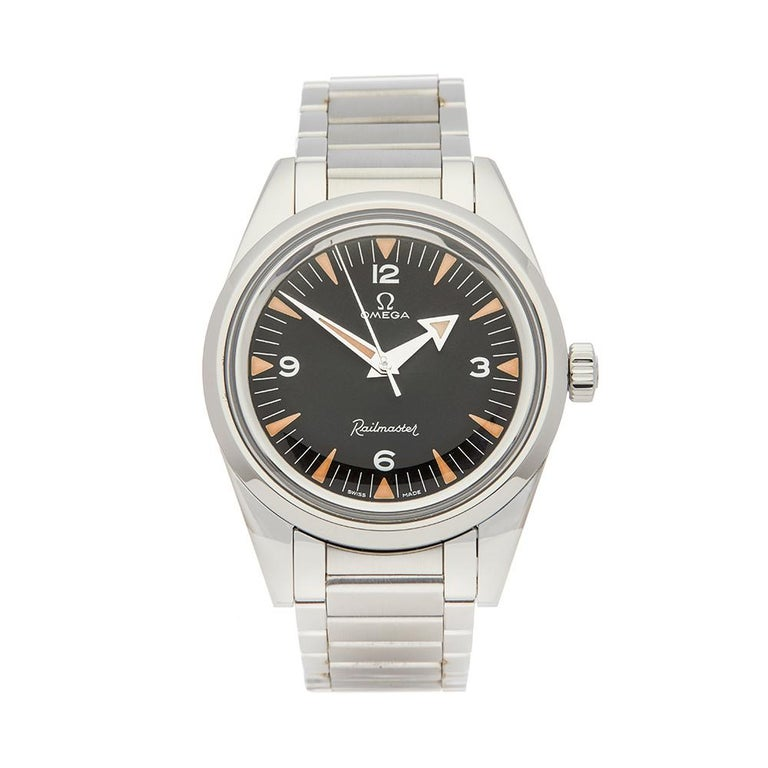 2017 Omega Railmaster Stainless Steel 22010382001002 Wristwatch For Sale