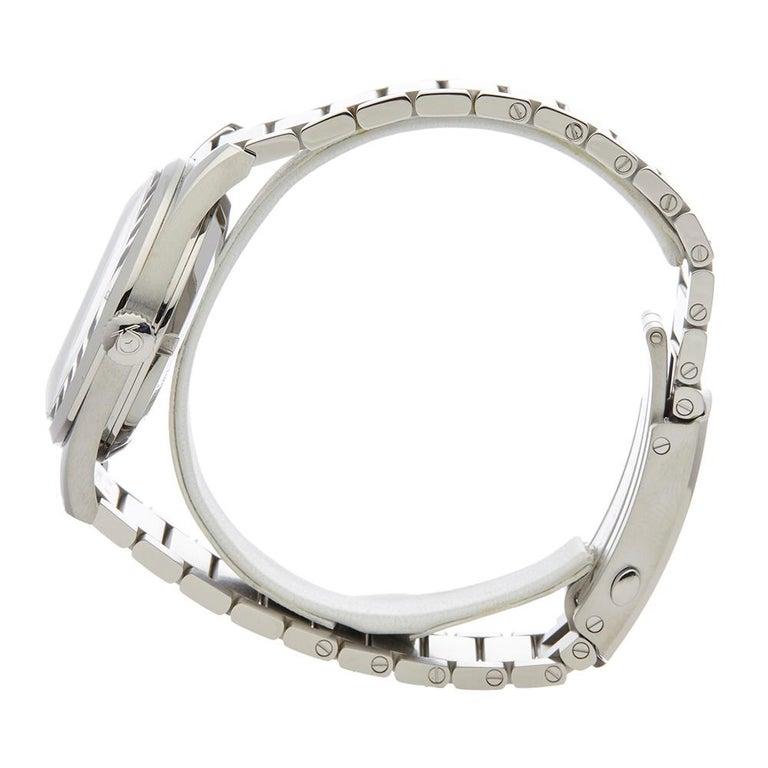 2017 Omega Railmaster Stainless Steel 22010382001002 Wristwatch In Excellent Condition For Sale In Bishops Stortford, Hertfordshire
