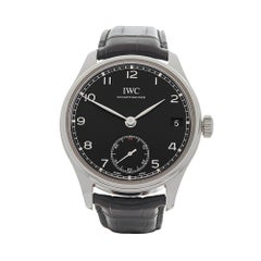 2017 IWC Portuguese Hand Wound Eight Days Stainless Steel IW510202 Wristwatch