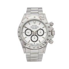 1991 Rolex Daytona Inverted 6 Chronograph Stainless Steel 16520 Wristwatch