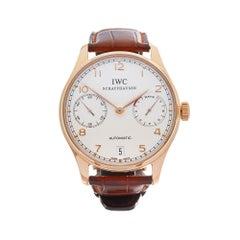 2008 IWC Portuguese Rose Gold IW500113 Wristwatch