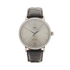 2017 IWC Portofino Original Diamond Bezel White Gold IW356514 Wristwatch