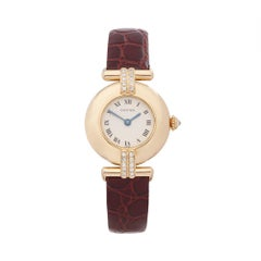 1990s Cartier Colisee Diamond Yellow Gold 1980 Wristwatch
