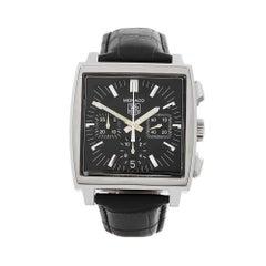 2000s Tag Heuer Monaco Stainless Steel CW2111-0 Wristwatch