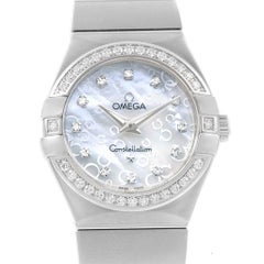 Omega Constellation MOP Diamonds Ladies Watch 123.15.27.60.55.005 Unworn