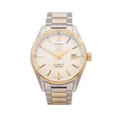 2016 Tag Heuer Carrera Steel & Yellow Gold WAR215B-1 Wristwatch