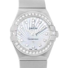 Omega Constellation Mother of Pearl Diamond Watch 123.15.24.60.55.004 Unworn
