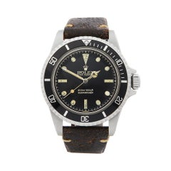 1962 Rolex Submariner Stainless Steel 5512 Wristwatch