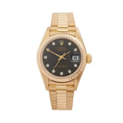 1980's Rolex Datejust Yellow Gold 69178 Wristwatch