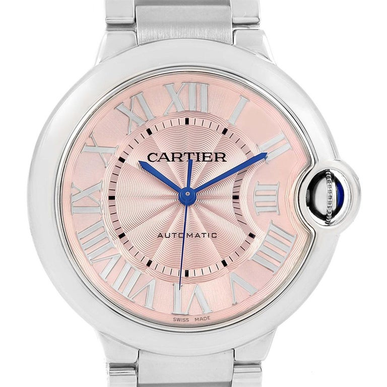 846adb8db681 Cartier Ballon Bleu Pink Dial Steel Ladies Watch W6920041 For Sale ...