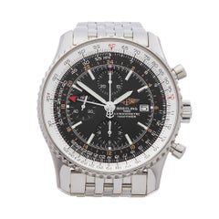 2008 Breitling Navitimer World Chronograph Stainless Steel A24322 Wristwatch