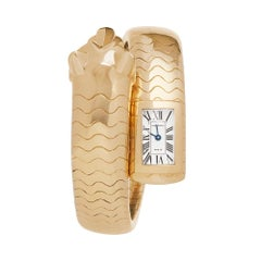 2000 Cartier Panthère Figurative Lakarda Yellow Gold HP600186 Wristwatch