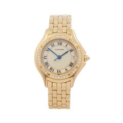 1990's Cartier Panthère Cougar Yellow Gold 887907 Wristwatch