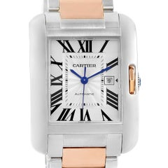 Cartier Tank Anglaise Large Steel Rose Gold Watch W5310007