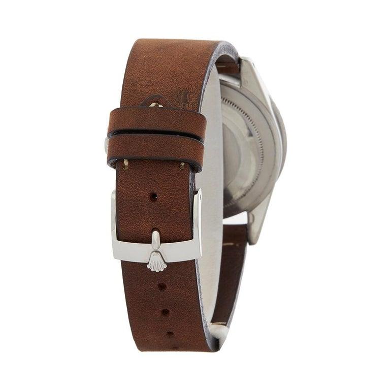 1963 Rolex GMT-Master Gilt Gloss Underline Dial Stainless Steel 1675 Wristwatch For Sale 1