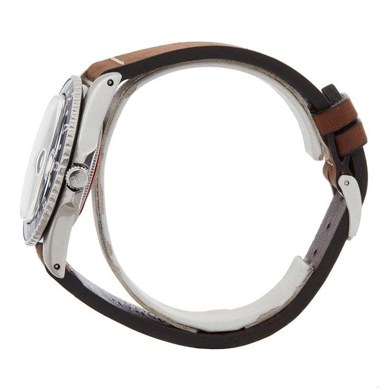 Men's 1963 Rolex GMT-Master Gilt Gloss Underline Dial Stainless Steel 1675 Wristwatch For Sale