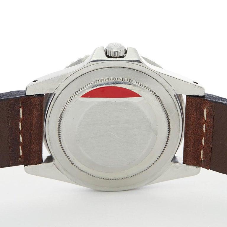 1963 Rolex GMT-Master Gilt Gloss Underline Dial Stainless Steel 1675 Wristwatch For Sale 2