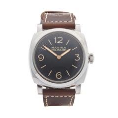 2010 Panerai Radiomir Marina Militare Stainless Steel PAM00587 Wristwatch