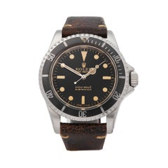 1966 Rolex Submariner Gilt Gloss Meters First 5 Ticks Dial Stainless Steel