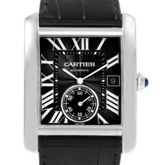 Cartier Tank MC Black Dial Automatic Men's Watch W5330004 Box Papers