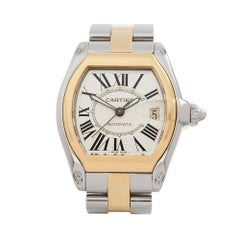 2010's Cartier Roadster Steel & Yellow Gold 2510 or W62031Y4 Wristwatch