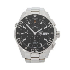 2010's Tag Heuer Aquaracer Chronograph Stainless Steel CAJ2110.BA0872 Wristwatch