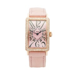 2000's Franck Muller Long Island Lady Rose Gold 900.QZ.D Wristwatch