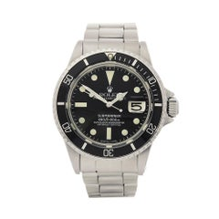 1970 Rolex Submariner Stainless Steel 1680 Wristwatch