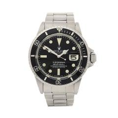 1970 Rolex Submariner Stainless Steel 1680 Wristwatch