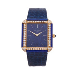 1990's Patek Philippe Vintage Lapis Lazuli Yellow Gold 3727 Wristwatch
