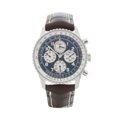 2000's Breitling Navitimer Chronograph Stainless Steel A33030 Wristwatch