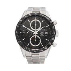2000's Tag Heuer Carrera Chronograph Stainless Steel CV2010-3 Wristwatch