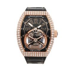 2018 Franck Muller Gravity Skeleton Tourbillon Rose Gold Wristwatch