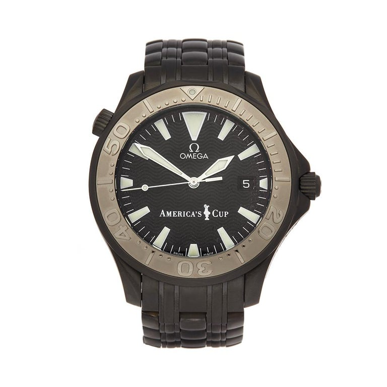 2002 Omega Seamaster Hercules Custom America's Cup Other 2533.50.00 Wristwatch For Sale
