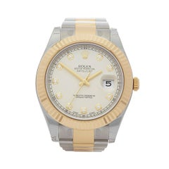 2016 Rolex Datejust 41 Steel & Yellow Gold 116333 Wristwatch