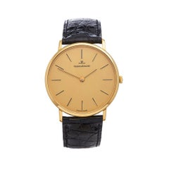 1970's Jaeger-LeCoultre Vintage Ulta Thin Yellow Gold C.818/3 Wristwatch