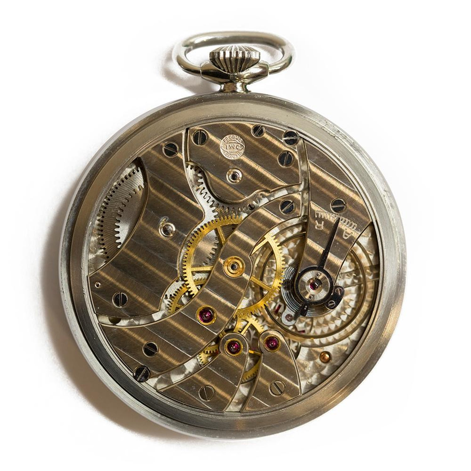 ab93b766d 1937 IWC Pocket Watch Military Stainless Steel C.67 Pocket watch For Sale at  1stdibs