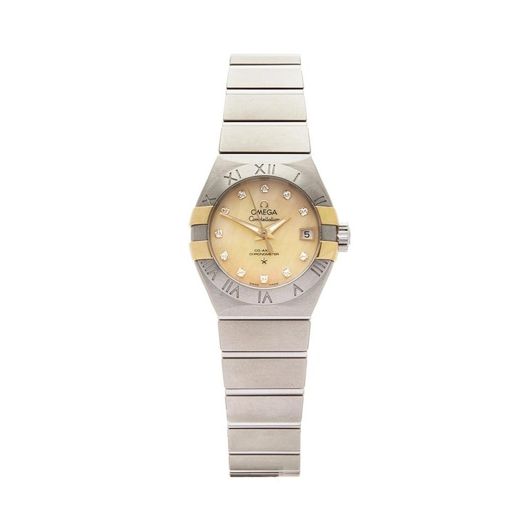 2017 Omega Constellation Steel & Yellow Gold 123.20.27.20.57.003 Wristwatch For Sale