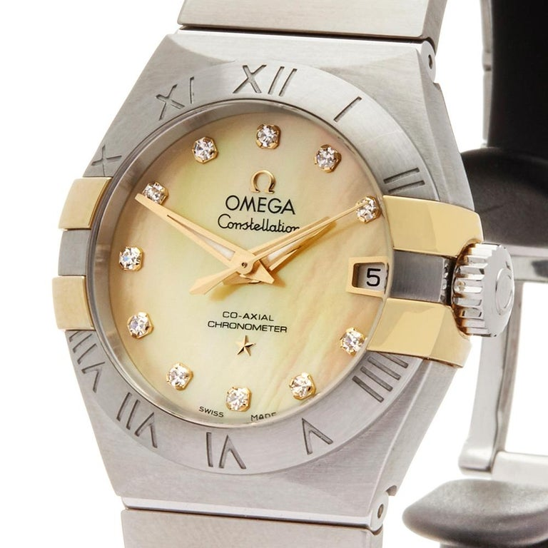 2017 Omega Constellation Steel & Yellow Gold 123.20.27.20.57.003 Wristwatch For Sale 2