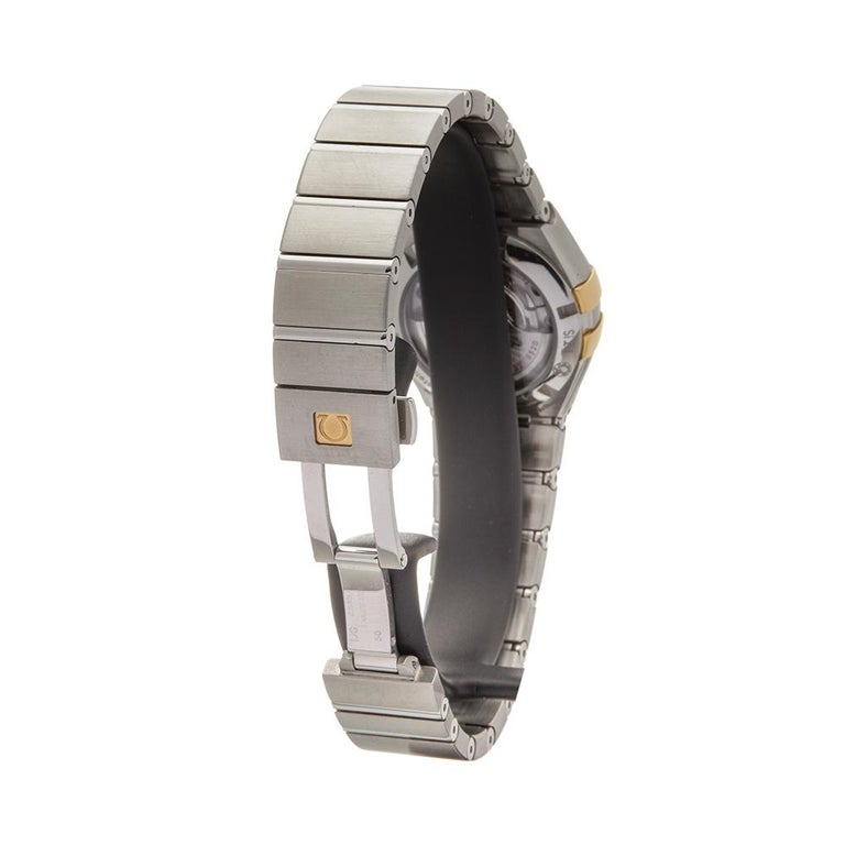 2017 Omega Constellation Steel & Yellow Gold 123.20.27.20.57.003 Wristwatch For Sale 1