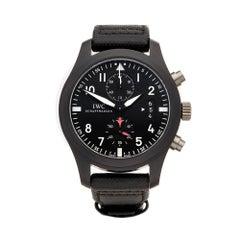 2017 IWC Pilot's Chronograph Top Gun Ceramic IW388007 Wristwatch