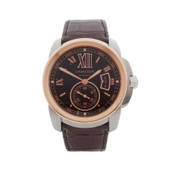 2017 Cartier Calibre Steel & Rose Gold W7100051 Wristwatch