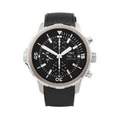 2015 IWC Aquatimer Chronograph Stainless Steel IW376803 Wristwatch