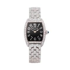 2000's Franck Muller Cintree Curvex White Gold 1752QZ Wristwatch