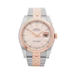2017 Rolex Datejust 36 Steel & Rose Gold 116201 Wristwatch