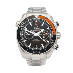 2018 Omega Seamaster Chronograph Stainless Steel 21530465101002 Wristwatch