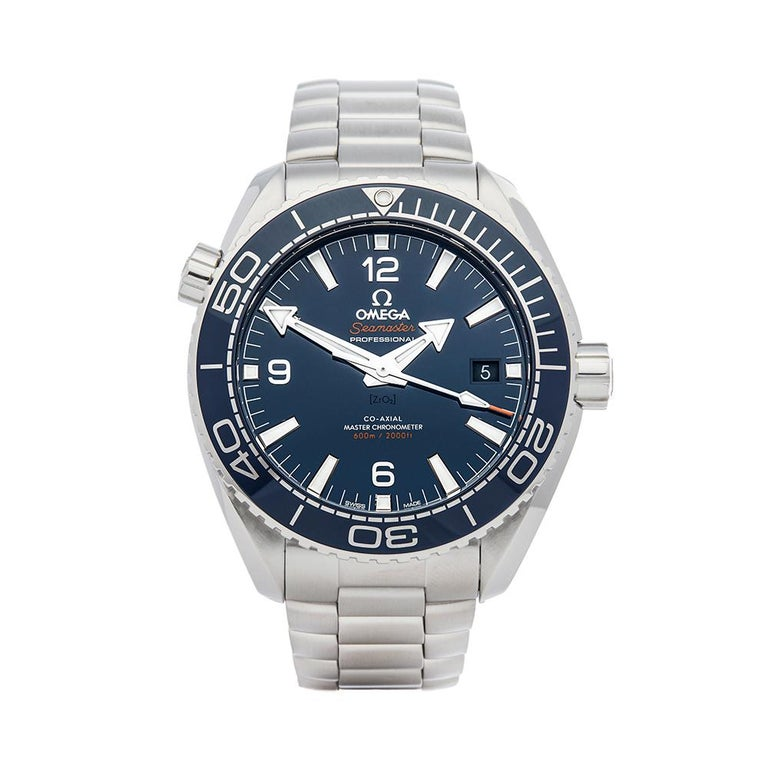 2018 Omega Seamaster Planet Ocean Stainless Steel 21530442103001 Wristwatch For Sale