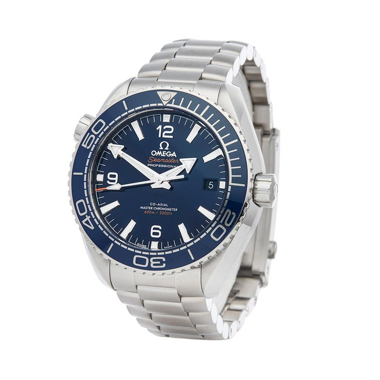 Contemporary 2018 Omega Seamaster Planet Ocean Stainless Steel 21530442103001 Wristwatch  *  *Complete with: Box, Manuals & Guarantee dated 16th October 2018  *Case Size: 43.5mm  *Strap: Stainless Steel  *Age: 2018  *Strap length: Adjustable up to