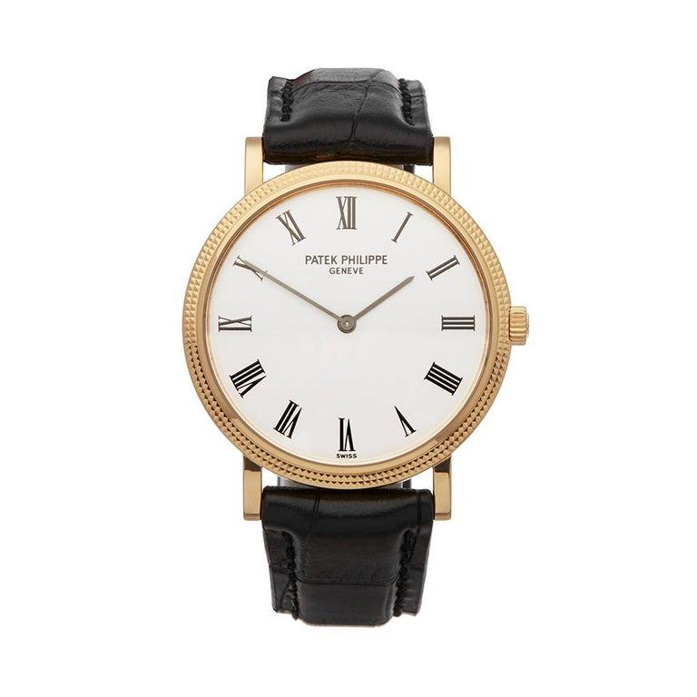2000's Patek Philippe Calatrava Stainless Steel 5120 Wristwatch For Sale