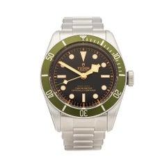 2018 Tudor Heritage Black Bay Harrods Stainless Steel 79230G Wristwatch